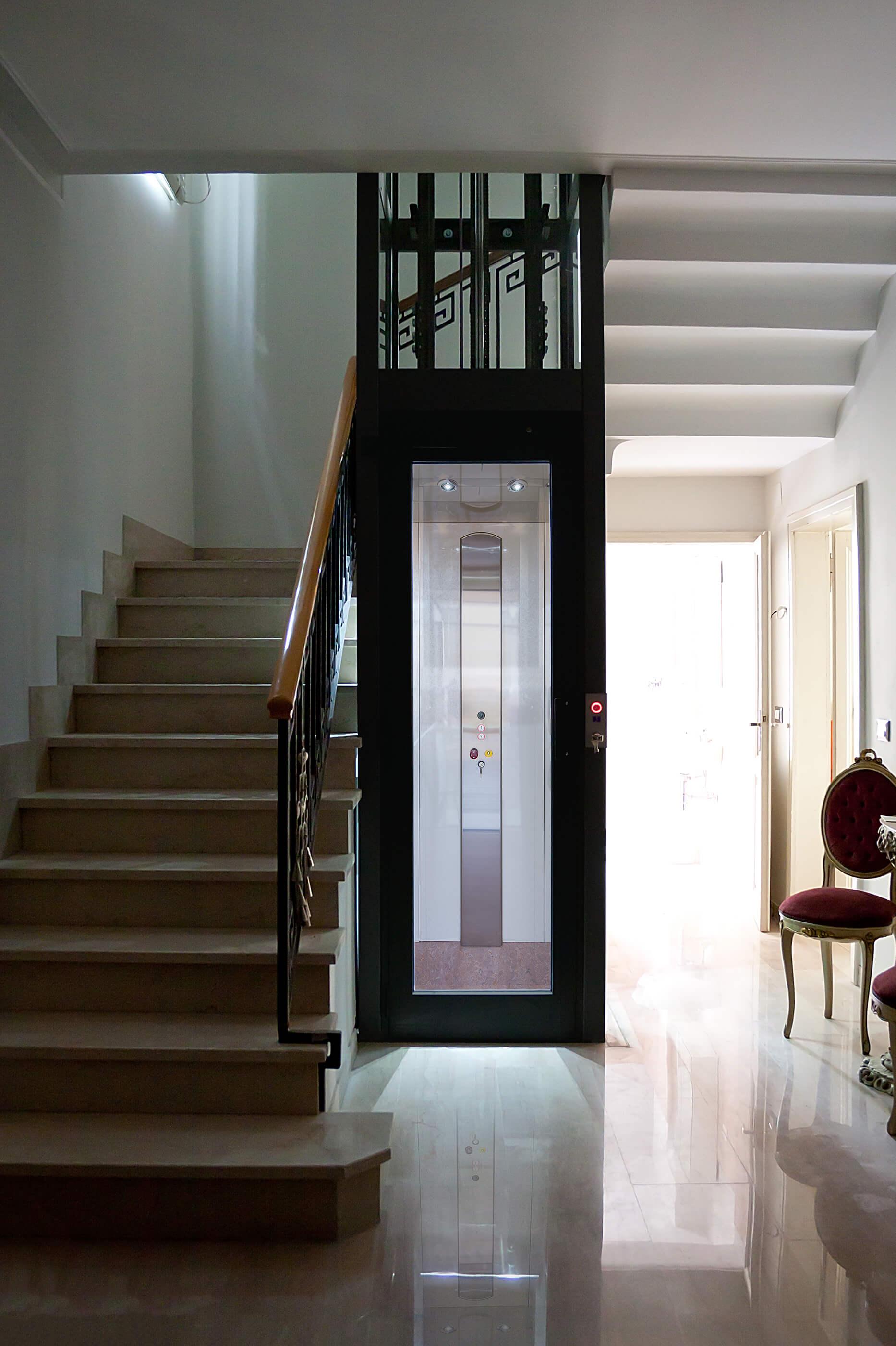 Installation d'un ascenseur dans un immeuble
